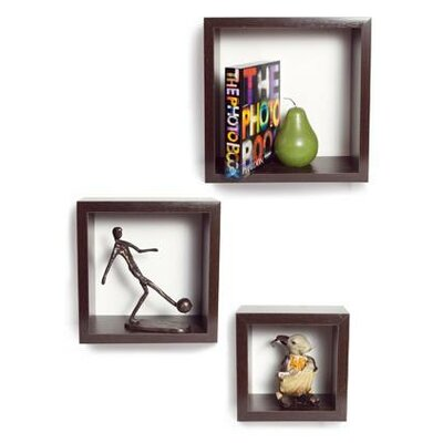 Danya B 3 Pieces Nesting Square Shelf Set