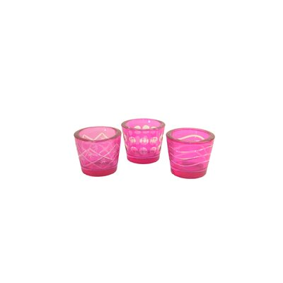 Danya B Cut Glass Votive Candle Holder (Set of 3)