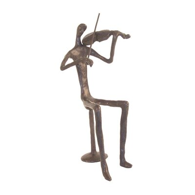 Male Violin Player Figurine