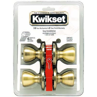 Kwikset Entry Locksets Tylo Knob (Set of 4)