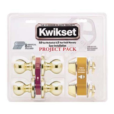 Kwikset Tylo Knob Entry Lockset and Deadbolt