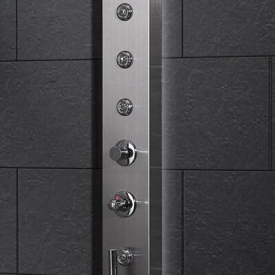 Ariel Bath Stainless Steel Thermostatic Shower Panel