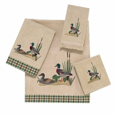 Mallard Ducks 4 Piece Towel Set