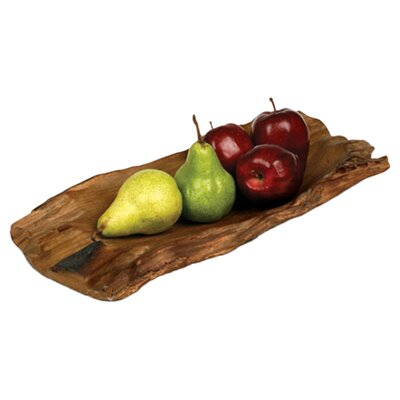 "Enrico Jungle Driftwood 18"" Rectangular Platter"