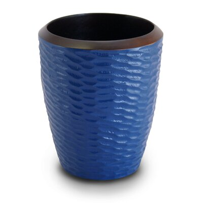 Enrico Casual Dining Utensil Vase in Deep Blue / Dark Brown