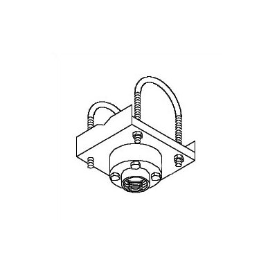 Peerless Truss Ceiling Adapter with Stress Decoupler for Peerless