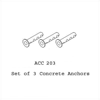Peerless Concrete Anchor Kits, 3 pack