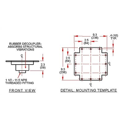 Peerless Structural Ceiling Adapter with Decoupler