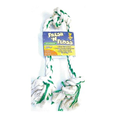 BOODA Pet Products Fresh-N-Floss Three Knot Bone Dog Toy