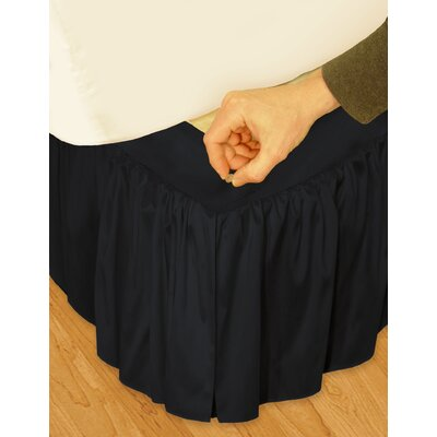 "Veratex, Inc. ""Hike Up Your Skirt"" Ruffled Bedskirt in Black"
