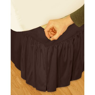 "Veratex, Inc. ""Hike Up Your Skirt"" Ruffled Bedskirt in Chocolate"