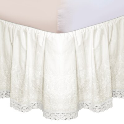 "Veratex, Inc. ""Hike Up Your Skirt"" Embroidered Bedskirt in Ivory"