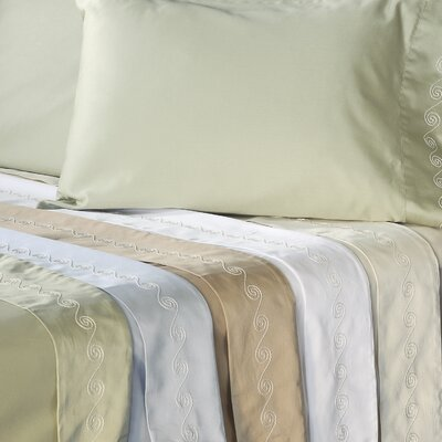 Veratex, Inc. Supreme Sateen 300 Thread Count Swirl Pillowcase (Set of 2)