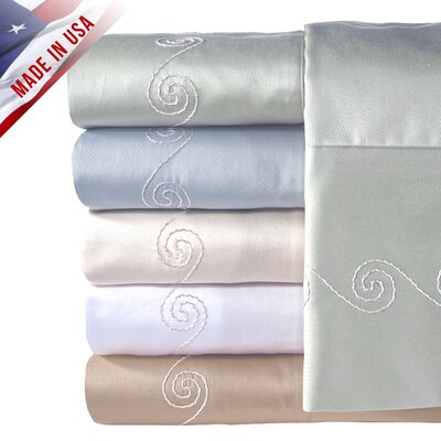 Veratex, Inc. Supreme Sateen 300 Thread Count Swirl Sheet Set