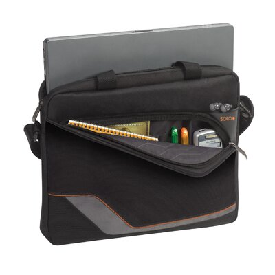 "SOLO CASES Vector 16"" Laptop Slim Brief in Black"