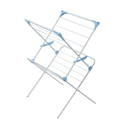 Minky Homecare Two Tier Duo Concertina Indoor Drying Rack in White