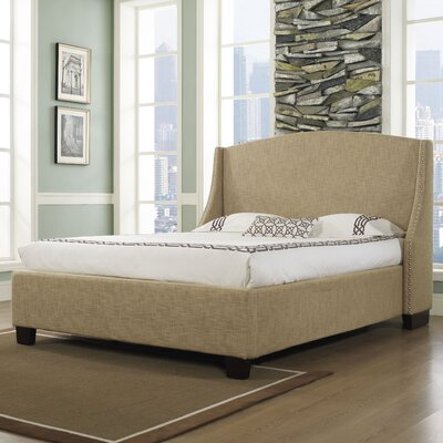 dCOR design Oxford-X Wingback Platform Bed
