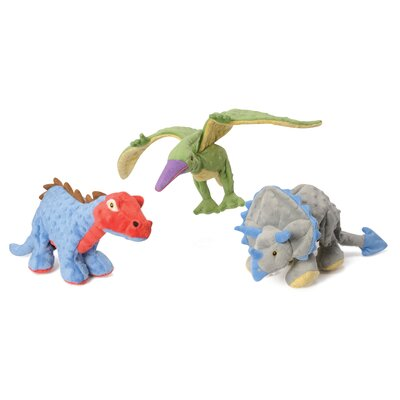 Go Dog Dinos Spiked Plated Stegosaurus Dog Toy with Chew Guard