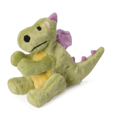 Go Dog Mini Dragon Dog Toy with Chew Guard in Lime Green