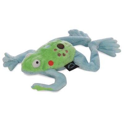 Go Dog Mr. Frog Dog Toy with Chew Guard