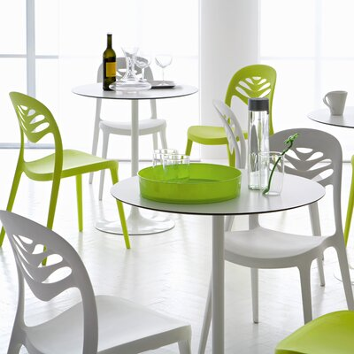 Domitalia Crown Round Table with ForYou2 Stacking Chairs