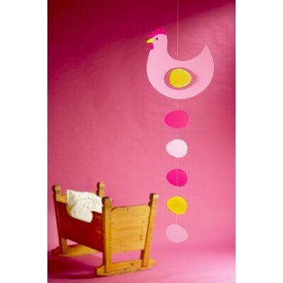 Flensted Mobiles Large Prize Hen Mobile in Pink