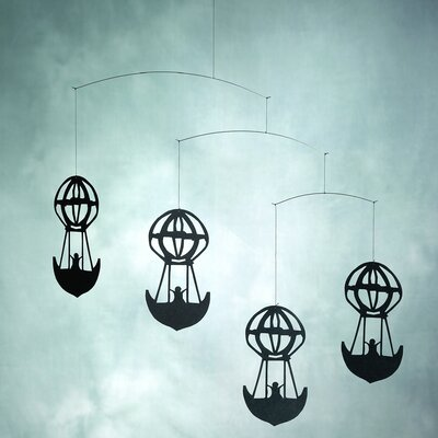 Flensted Mobiles Hans Christian Andersen Balloons Mobile in Black
