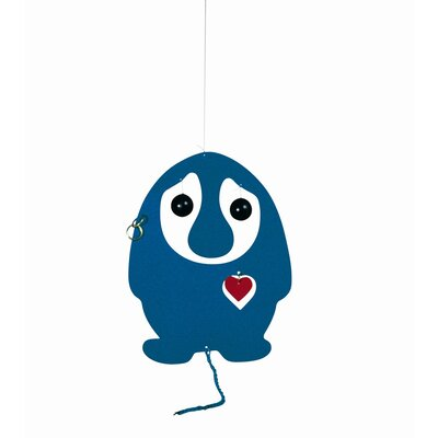 Flensted Mobiles Puffing Troll Heart Mobile in Blue / Red