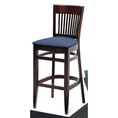 "Grand Rapids Chair Melissa Slat Back Wood Barstool (24"" - 31.5"" Seats)"