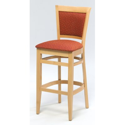 Melissa Upholstered Back Wood Barstool (24