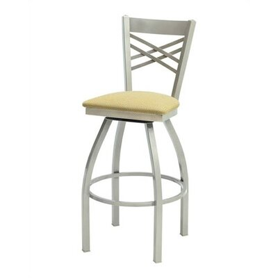 "Grand Rapids Chair Melissa Anne Cross Back Swivel Barstool (24"" - 36"" Seats)"