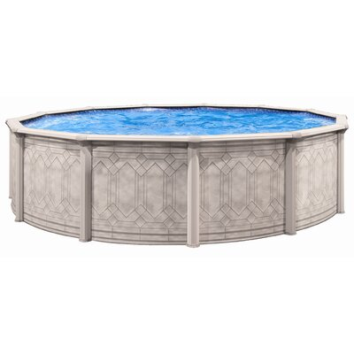 "Trevi Aqua Deluxe Round 52"" Deep Sunscape Above Gound Pool"