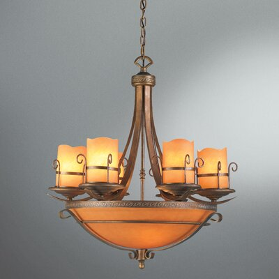 Eurofase Rustico 9 Light Chandelier