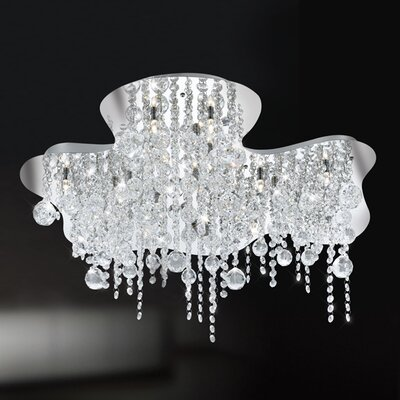 Eurofase Alissa 18 Light Semi Flush Mount