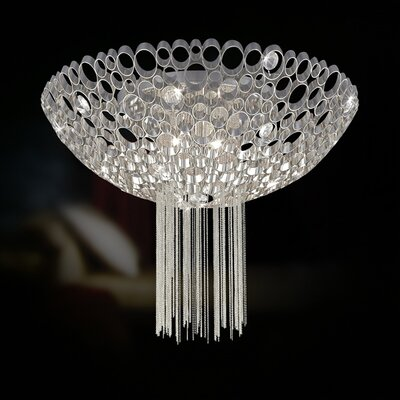 Eurofase Cameo 3 Light Semi Flush Mount