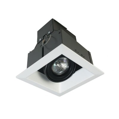 One Light MR16 Square Multiple Trim in Black
