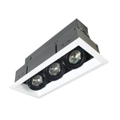 Three Light MR16 Multiple Trim in Black