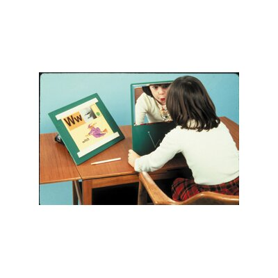 Fabrication Enterprises Portable Ultra-Safe Glassless Speech Therapy Mirror