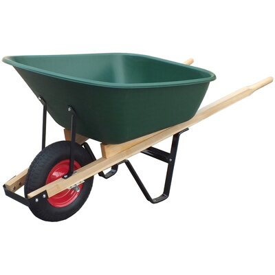 United General Supply CO., INC 6 Cu. ft. Poly Tray Wheelbarrow