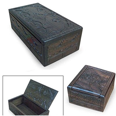 Novica The Goddess and The Elephants Jewelry Boxes (2 Piece)