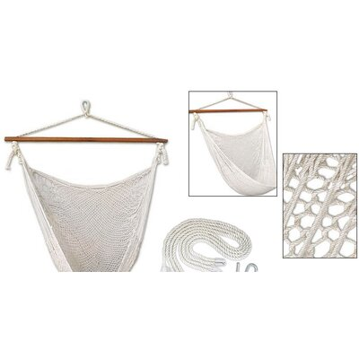 Novica Deserted Beach Hand Woven Hammock Chair