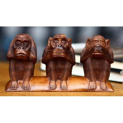 Novica 'Three Wise Monkeys' Statuette
