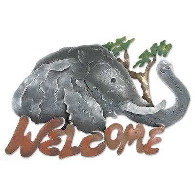 Novica 'A Jumbo Welcome' Sign