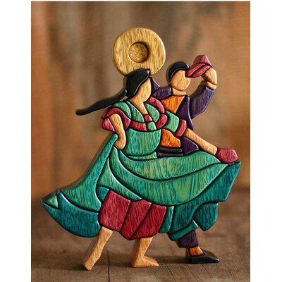 Novica 'Dance and Flirt' Sculpture