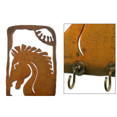 Novica Chestnut Stallion Coat Rack