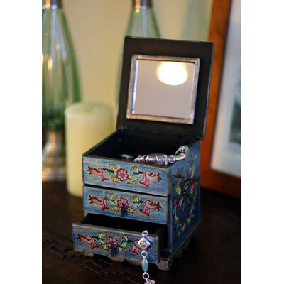 Novica Jewelry Box in Celestial Blue