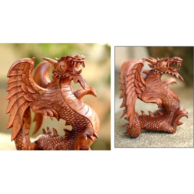 Novica Baby Dragon Figurine