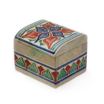 Novica The Claudinho Artisan Atlantic Forest Soapstone Box