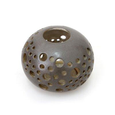 Novica Snowball Veny Lydiawati Artisan Ceramic Candleholder