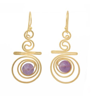 Novica The Khun Boom Artisan Follow The Dream Amethyst Dangle Earrings